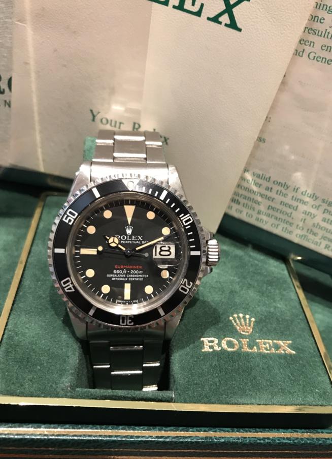 Conseil d'investissement : ROLEX 1680 Red Full Set.