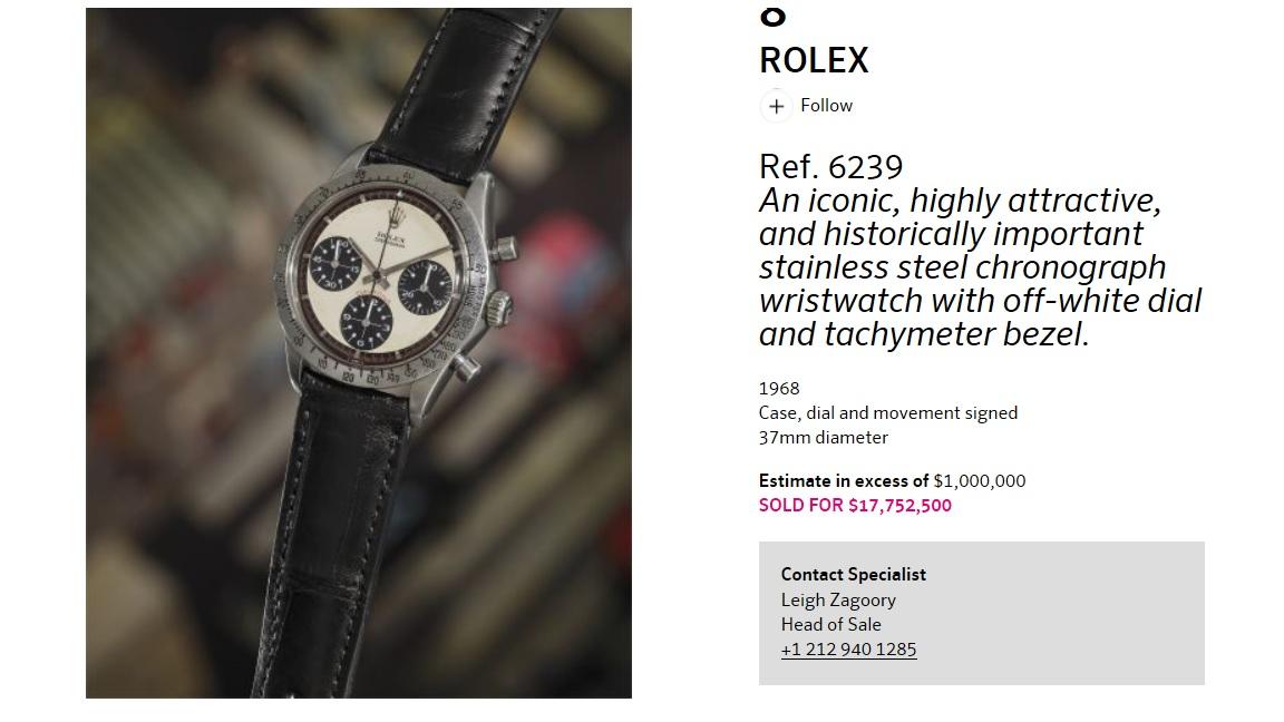 Record du Monde pour une ROLEX !